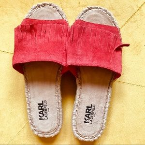 NEW KARL LAGERFIELD Espadrille sandal